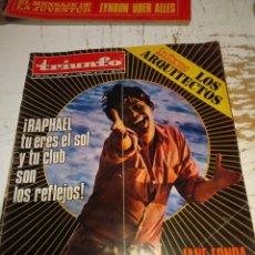 Coleccionismo de Revistas y Periódicos: TRIUNFO : RAPHAEL, JANE FONDA, CHILE ( ALLENDE), MASSIEL (BERTOLD BRETCH) . Lote 140658194