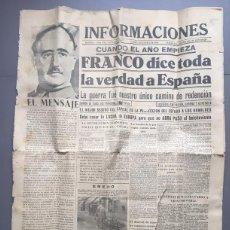 Coleccionismo de Revistas y Periódicos: DIARIO INFORMACIONES LUNES 1 FEBRERO DE 1940. Lote 140716814