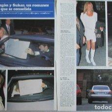 Coleccionismo de Revistas y Periódicos: RECORTE REVISTA SEMANA 2984 1997 ANA OBREGON Y SUKER. ALESSANDRO LEQUIO. Lote 140730938