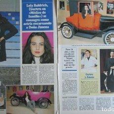 Coleccionismo de Revistas y Periódicos: RECORTE REVISTA SEMANA 2984 1997 LOLA BALDRICH. Lote 140730958