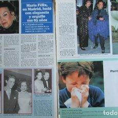 Coleccionismo de Revistas y Periódicos: RECORTE REVISTA SEMANA 2984 1997 MARIA FELIX. Lote 140731006