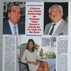 Coleccionismo de Revistas y Periódicos: RECORTE REVISTA SEMANA 2984 1997 JUAN ANTONIO BARDEM, FERNANDEZ TAPIAS, MAR FLORES. Lote 140731146