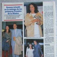 Coleccionismo de Revistas y Periódicos: RECORTE REVISTA SEMANA 2984 1997 ROSANA, MASSIEL, JOAN MANUEL SERRAT. Lote 140731222