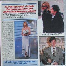 Coleccionismo de Revistas y Periódicos: RECORTE REVISTA SEMANA 2984 1997 ANA OBREGON. Lote 140731322