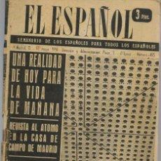 Coleccionismo de Revistas y Periódicos: EL ESPAÑOL. SEMANARIO DE LOS ESPAÑOLES. Nº 493. CONTRAPORTADA: VUELTA CICLISTA. 17/5/1958.(P/B75). Lote 140732938
