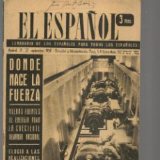 Coleccionismo de Revistas y Periódicos: EL ESPAÑOL. SEMANARIO DE LOS ESPAÑOLES. Nº 512. 27 SEPTIEMBRE 1958. (P/B75). Lote 140739146