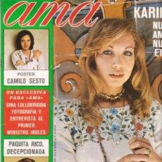 Coleccionismo de Revistas y Periódicos: REVISTA AMA NUMERO 374 AÑO 1975 (PORTADA KARINA). Lote 140773254