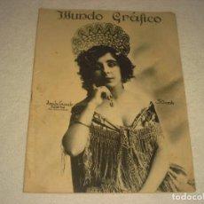 Coleccionismo de Revistas y Periódicos: MUNDO GRAFICO 568. 1922. AMALIA CRUZADO , BAILARINA.. Lote 140774402