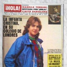 Coleccionismo de Revistas y Periódicos: HOLA - 1983 - VICTORIA ABRIL, ISABELLA FERRARI, CAMILO SESTO, DIANA ROSS, ANGELA CARRASCO, C VELASCO. Lote 51142852