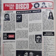 Coleccionismo de Revistas y Periódicos: PINO DONAGGIO ROBERTA FLACK JEANETTE YACO LARA ARENA CALIENTE. Lote 178635360
