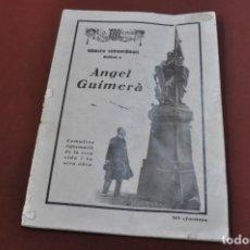 Coleccionismo de Revistas y Periódicos: LA ESCENA CATALANA NÚMERO EXTRAORDINARI DEDICAT A ANGEL GUIMERÀ - ANY 1924 - RP13. Lote 140854450
