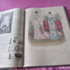 Coleccionismo de Revistas y Periódicos: LA MODA ELEGANTE AÑO 1880 Y 1881 COMPLETOS 96 REVISTAS + LAMINAS.. Lote 140886622