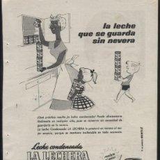 Coleccionismo de Revistas y Periódicos: ANUNCIO LA LECHERA Y RÉGÉ COLOR (REVERSO). Lote 140907370