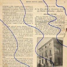 Collectionnisme de Revues et Journaux: CASAS IBAÑEZ - ALBACETE 1908 AZAFRANES HOJA REVISTA. Lote 141125590