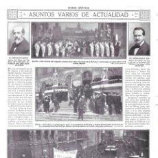 Coleccionismo de Revistas y Periódicos: 1913 HOJA REVISTA BILBAO CONMEMORACIÓN SITIO ALCALDE GOBERNADOR CIVIL COMANDANTE DE MARINA. Lote 141293510