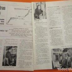 Coleccionismo de Revistas y Periódicos: ARTICULO 1971 - AUTOBUSES DE BARCELONA NUESTRAS LINEAS HOY LINEA 18 - RENFE FERROCARRIL TRANVIA . Lote 141551866