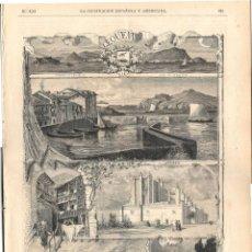 Coleccionismo de Revistas y Periódicos: ILUSTRACIÓN ESPAÑOLA Y AMERICANA GUERRA CARLISTA 1874 (8 JUN) LEQUEITIO VIZCAYA, HORNO CREMATORIO. Lote 141573958