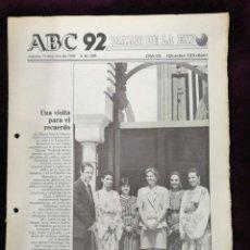 Coleccionismo de Revistas y Periódicos: DIARIO DE LA EXPO 11 DE JUNIO 1992 N°304. Lote 141716118