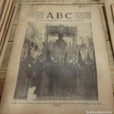 Coleccionismo de Revistas y Periódicos: SEMANA SANTA SEVILLA,1937,NTRA.SRA.DE LA PALMA, BUEN FIN, ABC 25/03/1937. Lote 141948770