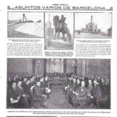 Coleccionismo de Revistas y Periódicos: 1914 HOJA REVISTA BARCELONA AEROPLANO MONOPLANO AVIADOR GARRÓS - PUERTO EDIFICIO REAL CLUB MARÍTIMO. Lote 142072574
