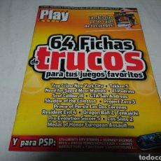 Coleccionismo de Revistas y Periódicos: REVISTA PLAY MANÍA 64 FICHAS DE TRUCOS - PLAYSTATION 2. Lote 142111420