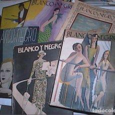 Coleccionismo de Revistas y Periódicos: LOTE DE 6 REVISTAS BLANCO Y NEGRO 1925 - 1933.. Lote 142335966