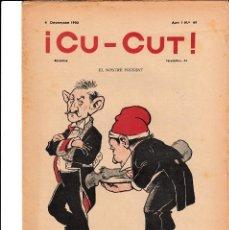 Coleccionismo de Revistas y Periódicos: REVISTA CU-CUT NUM. 49 AÑO 1902. Lote 142356706