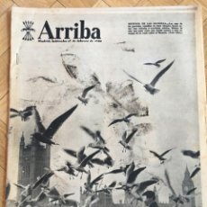 Coleccionismo de Revistas y Periódicos: ARRIBA (17-2-1960) PRESA RIOFRIO SEVILLA CASA DEL CORDON MYLENE DEMONGEOT LOLA FLORES JOSEFINA BAKER. Lote 142446250