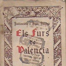 Coleccionismo de Revistas y Periódicos: ELS FURS DE VALÈNCIA. PUB. D' ARGIU VALENCIÁ. 1 NOV. 1930. ANY 1 NÚM. 1. 19X13CM. 44 P.. Lote 142516610