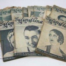 Coleccionismo de Revistas y Periódicos: COLECCIÓN COMPLETA DE REVISTAS ILUSTRADAS - GOLONDRINA - Nº 1 AL 119 - ENERO 1936 AL NOVIEMBRE 1937. Lote 142566470