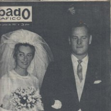 Coleccionismo de Revistas y Periódicos: REVISTA SABADO GRAFICO Nº 245 AÑO 1961. PRINCIPES DE HOHENLONE. LA CHUNGA.. Lote 142778810