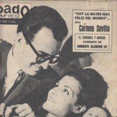 Coleccionismo de Revistas y Periódicos: REVISTA SABADO GRAFICO Nº 406 AÑO 1964. CARMAN SEVILLA. AUTUSTO ALGURRO III.. Lote 142779422