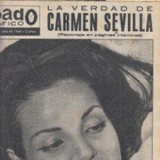 Coleccionismo de Revistas y Periódicos: REVSITA SABADO GRAFICO Nº 407 AÑO 1964. CARMEN SEVILLA. LOS SOMBRESOROS DE HAYLEY MILLS. . Lote 142779546