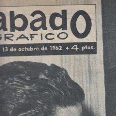 Coleccionismo de Revistas y Periódicos: REVISTA SABADO GRAFICO Nº 315 AÑO 1962. JUANITA Y CARACOLILLO. LI MORANTE.. Lote 142779982
