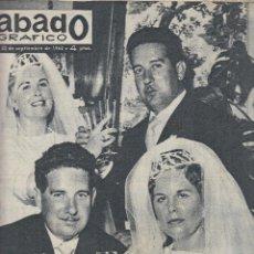 Coleccionismo de Revistas y Periódicos: REVISTA SABADO GRAFICO Nº 312 AÑO 1962. BODA DE LOS MELLIZOS. MISS ERUPA MARUJA GARCIA NICOLAS.. Lote 142784378