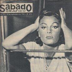 Coleccionismo de Revistas y Periódicos: REVISTA SABADO GRAFICO Nº 313 AÑO 1962. PAQUITA RICO. PRINCESA SHANAZ.. Lote 142784610