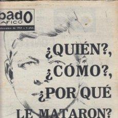 Coleccionismo de Revistas y Periódicos: REVISTA SABADO GRAFICO Nº 375 AÑO 1963. UN ESTUDIO COMPLETO ACERCA DEL CRIMEN DE KENNEDY. Lote 142785190