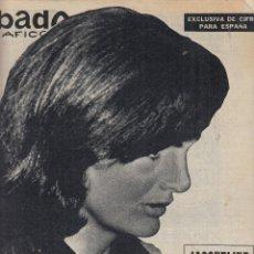 Coleccionismo de Revistas y Periódicos: REVISTA SABADO GRAFICO Nº 374 AÑO 1963. JACQUELINE KENNEDY.. Lote 142785430