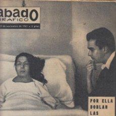 Coleccionismo de Revistas y Periódicos: REVISTA SABADO GRAFICO Nº 373 AÑO . FALLECE CARMEN AMAYA.. Lote 142785738