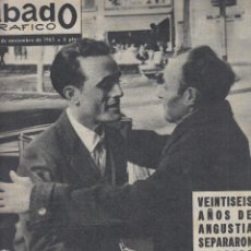 Coleccionismo de Revistas y Periódicos: REVISTA SABADO GRAFICO Nº 372 AÑO 1962. UNIDOS POR EL PROGRAMA LOS FORMIDABLES.CLAUDIA CARDINALE.. Lote 142786050