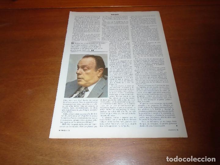 Coleccionismo de Revistas y Periódicos: RETAL 1978: ENTREVISTA A MANUEL FRAGA - Foto 2 - 142833142