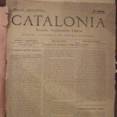 Coleccionismo de Revistas y Periódicos: CATALONIA PERIODIC NACIONALISTA LLIBERAL - ANY 1899 1900 - DE 1 AL 10 - MOLT BON ESTAT. Lote 142914162