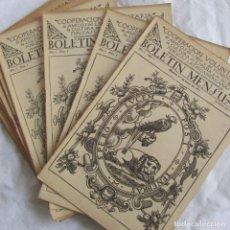 Coleccionismo de Revistas y Periódicos: 13 NÚMEROS DE BOLETÍN MENSUAL COOPERACIÓN VOLUNTARIA AMIGOS DEL LIBRO 1921-1922. Lote 142982838