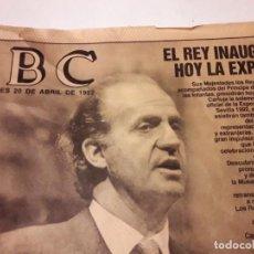 Coleccionismo de Revistas y Periódicos: NÚMERO ESPECIAL DE INAUGURACIÓN EXPO´92. ABC 20 ABRIL 1992.. Lote 143000934