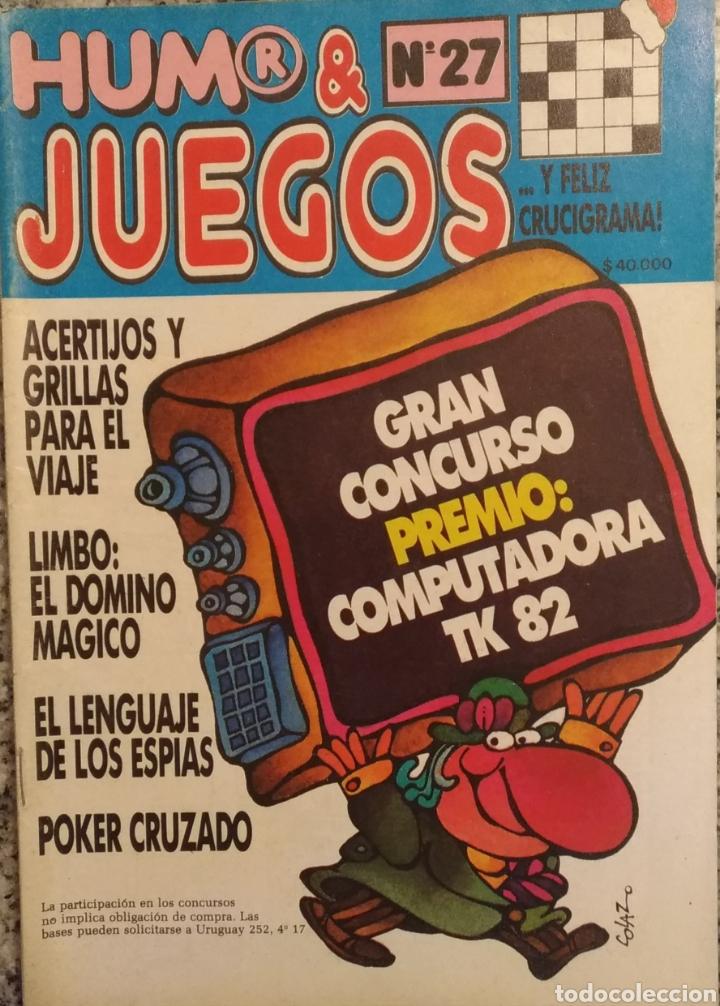 REVISTA HUMOR Y JUEGOS N'27 (Coleccionismo - Revistas y Periódicos Modernos (a partir de 1.940) - Otros)
