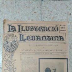 Coleccionismo de Revistas y Periódicos: REVISTA.LA ILUSTRACIÓ LLEVANTINA.ARTISTICH-LITERARIA.CATALUNY,VALENCIA,BALEARS Y ROSSELLÓ.ANY II Nº8. Lote 143155662