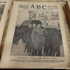 Coleccionismo de Revistas y Periódicos: ABC,SEVILLA, 22 DE NOVIEMBRE DE 1939. TRASLADO DE LOS RESTOS MORTALES DE JOSE ANTONIO.12 PAGINAS. Lote 143267030