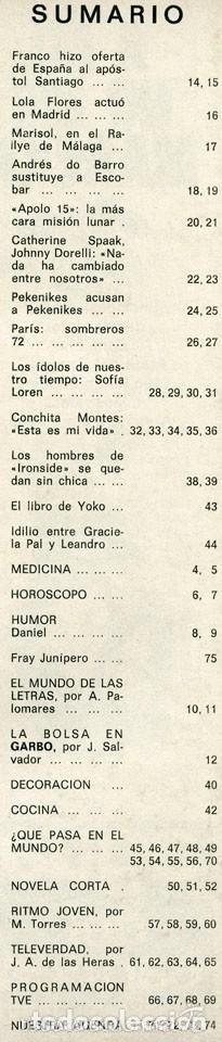 Coleccionismo de Revistas y Periódicos: GARBO - 1971 - ANDRES DO BARRO, LOLA FLORES, MARISOL, PEKENIKES, CONCHITA MONTES, MISS UNIVERSO - Foto 2 - 57364304