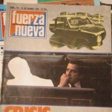 Coleccionismo de Revistas y Periódicos: FUERZA NUEVA 714 SEPTIEMBRE 1980 FALANGE FRANQUISMO. Lote 143335578