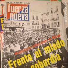 Coleccionismo de Revistas y Periódicos: FUERZA NUEVA 707 JULIO 1980 FALANGE FRANQUISMO. Lote 143336750